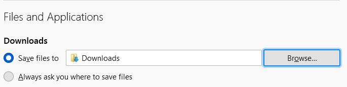 Download Location in Mozilla Firefox