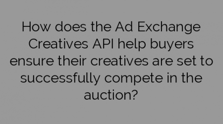 How does the Ad Exchange Creatives API help buyers ensure their creatives are set to successfully compete in the auction?
