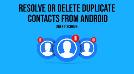 Resolve Or Delete Duplicate Contacts from Android